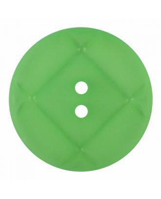Plexiglasknopf rund mit matter Oberfläche und 2 Löchern - Größe: 23mm - Farbe: hellgrün - Art.-Nr.: 346855