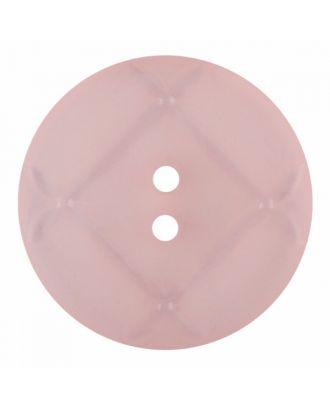 Plexiglasknopf rund mit matter Oberfläche und 2 Löchern - Größe: 23mm - Farbe: rosa - Art.-Nr.: 346856