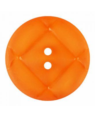 Plexiglasknopf rund mit matter Oberfläche und 2 Löchern - Größe: 28mm - Farbe: orange - Art.-Nr.: 376835