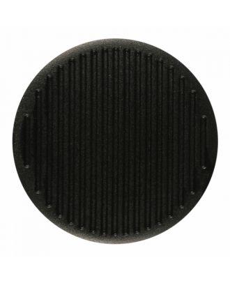 Polyamidknopf rund mit feiner Oberflächenstruktur und Öse  - Größe: 15mm - Farbe: schwarz - Art.-Nr.: 261380