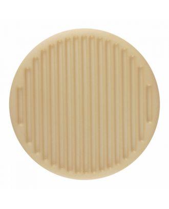 Polyamidknopf rund mit feiner Oberflächenstruktur und Öse  - Größe: 15mm - Farbe: beige - Art.-Nr.: 266800