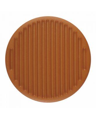 Polyamidknopf rund mit feiner Oberflächenstruktur und Öse  - Größe: 15mm - Farbe: braun - Art.-Nr.: 266801