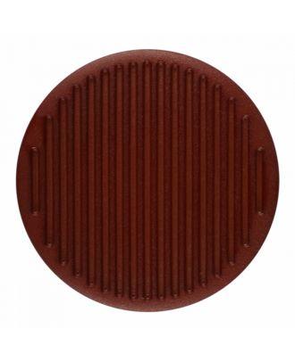 Polyamidknopf rund mit feiner Oberflächenstruktur und Öse  - Größe: 25mm - Farbe: braun - Art.-Nr.: 346814