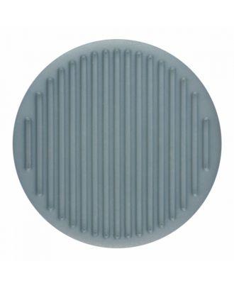 Polyamidknopf rund mit feiner Oberflächenstruktur und Öse  - Größe: 25mm - Farbe: blau - Art.-Nr.: 346815