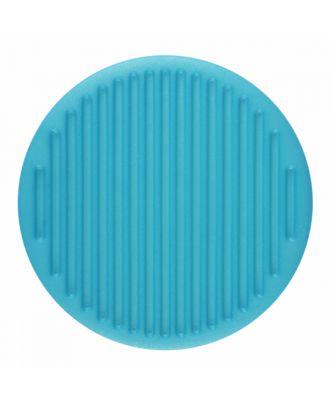 Polyamidknopf rund mit feiner Oberflächenstruktur und Öse  - Größe: 25mm - Farbe: blau - Art.-Nr.: 346816