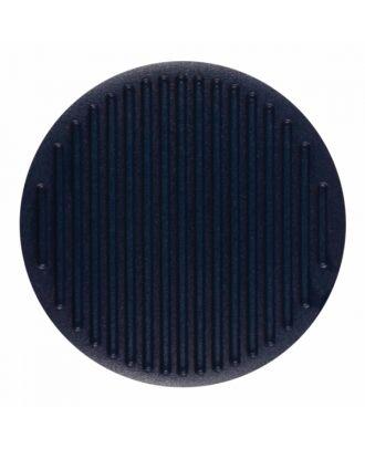 Polyamidknopf rund mit feiner Oberflächenstruktur und Öse  - Größe: 20mm - Farbe: marine blau - Art.-Nr.: 316805