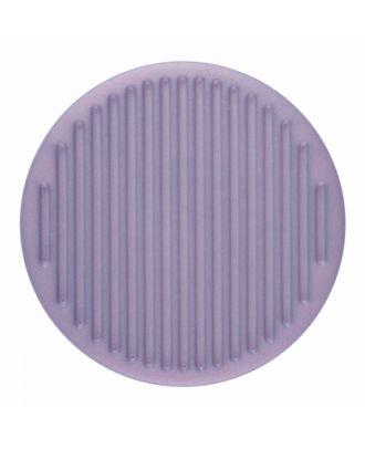 Polyamidknopf rund mit feiner Oberflächenstruktur und Öse  - Größe: 25mm - Farbe: lila - Art.-Nr.: 346818