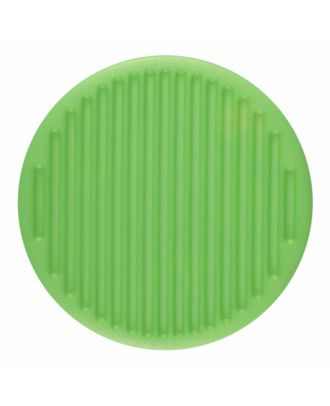 Polyamidknopf rund mit feiner Oberflächenstruktur und Öse  - Größe: 25mm - Farbe: hellgrün - Art.-Nr.: 346820