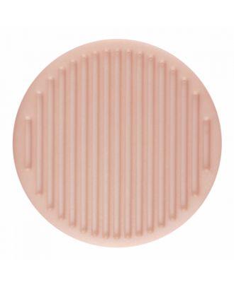 Polyamidknopf rund mit feiner Oberflächenstruktur und Öse  - Größe: 25mm - Farbe: rosa - Art.-Nr.: 346821