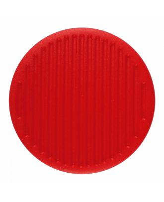 Polyamidknopf rund mit feiner Oberflächenstruktur und Öse  - Größe: 25mm - Farbe: rot - Art.-Nr.: 346822