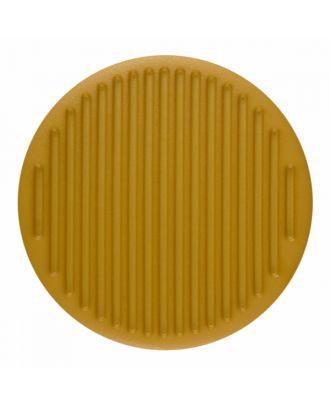 Polyamidknopf rund mit feiner Oberflächenstruktur und Öse  - Größe: 25mm - Farbe: gelb - Art.-Nr.: 346823