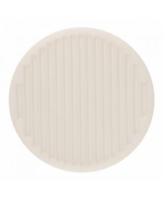 Polyamidknopf rund mit feiner Oberflächenstruktur und Öse  - Größe: 15mm - Farbe: reinweiß - Art.-Nr.: 261379