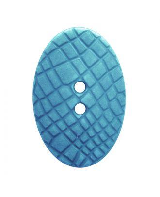 """Polyamidknopf oval im """"Vintage Look"""", mit feiner Struktur und 2 Löchern - Größe:  30mm - Farbe: hellblau - ArtNr.: 387804"""