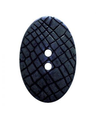 """Polyamidknopf oval im """"Vintage Look"""", mit feiner Struktur und 2 Löchern - Größe:  20mm - Farbe: dunkelblau - ArtNr.: 317806"""