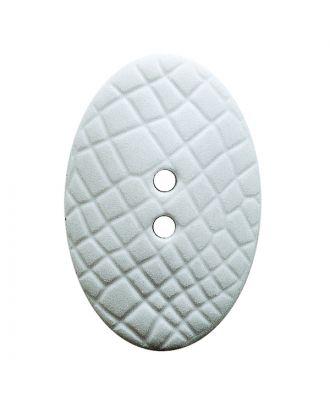 """Polyamidknopf oval im """"Vintage Look"""", mit feiner Struktur und 2 Löchern - Größe:  20mm - Farbe: weiß - ArtNr.: 311101"""