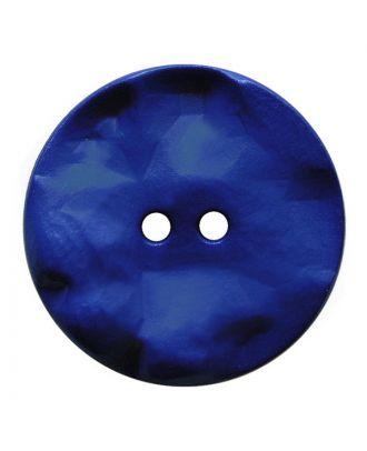 Polyamidknopf rund mit hügeliger Oberfläche und 2 Löchern - Größe:  30mm - Farbe: blau - ArtNr.: 387815