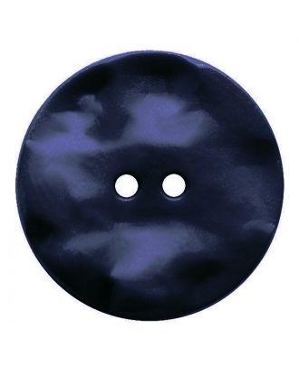 Polyamidknopf rund mit hügeliger Oberfläche und 2 Löchern - Größe:  30mm - Farbe: dunkelblau - ArtNr.: 387816