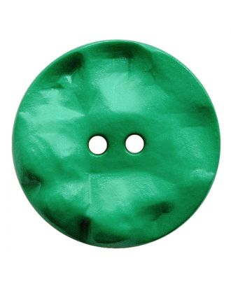 Polyamidknopf rund mit hügeliger Oberfläche und 2 Löchern - Größe:  30mm - Farbe: grün - ArtNr.: 387817