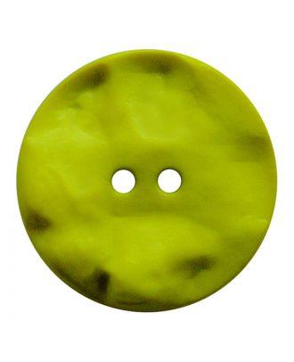 Polyamidknopf rund mit hügeliger Oberfläche und 2 Löchern - Größe:  20mm - Farbe: senfgrün - ArtNr.: 317819