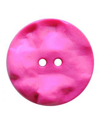 Polyamidknopf rund mit hügeliger Oberfläche und 2 Löchern - Größe:  30mm - Farbe: pink - ArtNr.: 387820