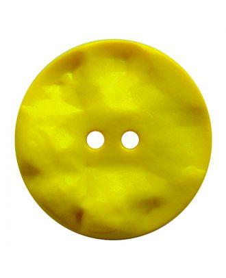 Polyamidknopf rund mit hügeliger Oberfläche und 2 Löchern - Größe:  20mm - Farbe: gelb - ArtNr.: 317822