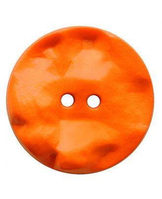 Polyamidknopf rund mit hügeliger Oberfläche und 2 Löchern - Größe:  30mm - Farbe: orange - ArtNr.: 387823
