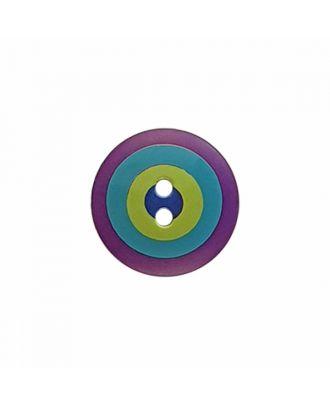 "Kaffe Fassett Knopf ""Target"", Polyamid runde Form 2-Loch - Größe: 20mm - Farbe: violett/blau/grün/marine - Art.-Nr.: 300983"