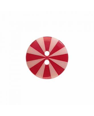 """Kaffe Fassett Knopf """"Radiate"""", Polyamid runde Form 2-Loch - Größe: 20mm - Farbe: pink/rot - Art.-Nr.: 300987"""