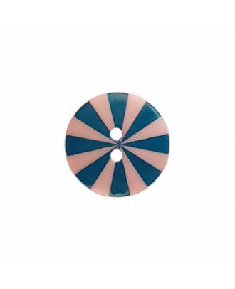"Kaffe Fassett Knopf ""Radiate"", Polyamid runde Form 2-Loch - Größe: 15mm - Farbe: pink/blau - Art.-Nr.: 261398"