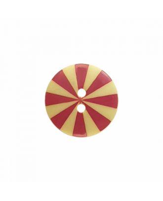 """Kaffe Fassett Knopf """"Radiate"""", Polyamid runde Form 2-Loch - Größe: 20mm - Farbe: gelb/pink - Art.-Nr.: 300988"""