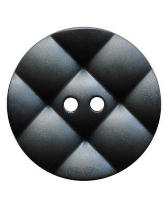 Polyamidknopf rund mit kissenförmiger Oberfläche und 2 Löchern - Größe:  28mm - Farbe: grau - ArtNr.: 377812