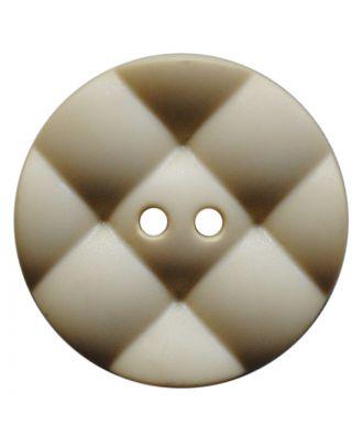 Polyamidknopf rund mit kissenförmiger Oberfläche und 2 Löchern - Größe:  28mm - Farbe: hellbeige - ArtNr.: 377813