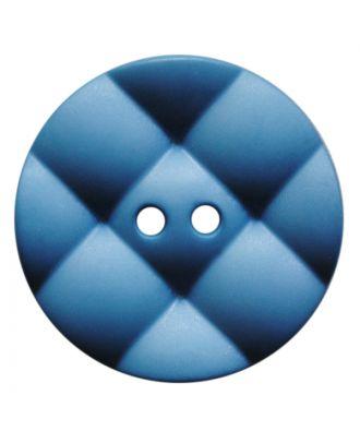 Polyamidknopf rund mit kissenförmiger Oberfläche und 2 Löchern - Größe:  28mm - Farbe: rauchblau - ArtNr.: 377816