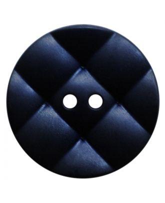 Polyamidknopf rund mit kissenförmiger Oberfläche und 2 Löchern - Größe:  28mm - Farbe: dunkelblau - ArtNr.: 377817