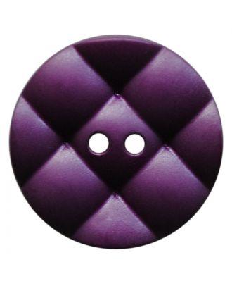 Polyamidknopf rund mit kissenförmiger Oberfläche und 2 Löchern - Größe:  28mm - Farbe: lila - ArtNr.: 377818