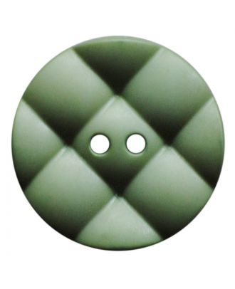 Polyamidknopf rund mit kissenförmiger Oberfläche und 2 Löchern - Größe:  28mm - Farbe: hellgrün - ArtNr.: 377819