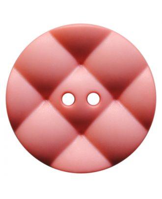 Polyamidknopf rund mit kissenförmiger Oberfläche und 2 Löchern - Größe:  28mm - Farbe: rosa - ArtNr.: 377821