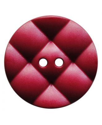 Polyamidknopf rund mit kissenförmiger Oberfläche und 2 Löchern - Größe:  28mm - Farbe: weinrot - ArtNr.: 377823