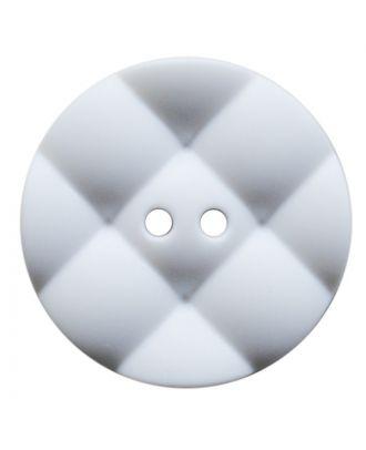 Polyamidknopf rund mit kissenförmiger Oberfläche und 2 Löchern - Größe:  28mm - Farbe: weiß - ArtNr.: 370923