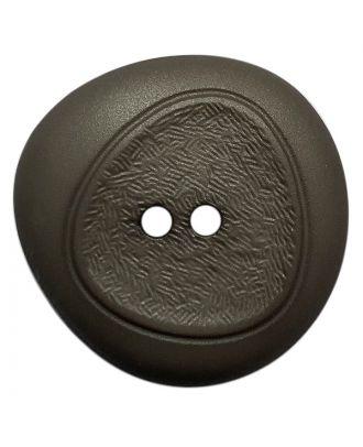 Polyamidknopf mit feiner Struktur und 2 Löchern - Größe:  28mm - Farbe: grau - ArtNr.: 378800