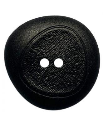 Polyamidknopf mit feiner Struktur und 2 Löchern - Größe:  28mm - Farbe: schwarz - ArtNr.: 370926