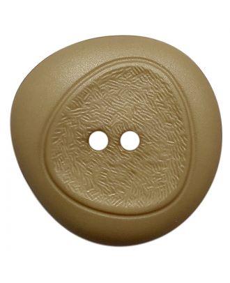 Polyamidknopf mit feiner Struktur und 2 Löchern - Größe:  28mm - Farbe: beige - ArtNr.: 378801