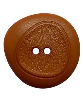 Polyamidknopf mit feiner Struktur und 2 Löchern - Größe:  28mm - Farbe: braun - ArtNr.: 378802