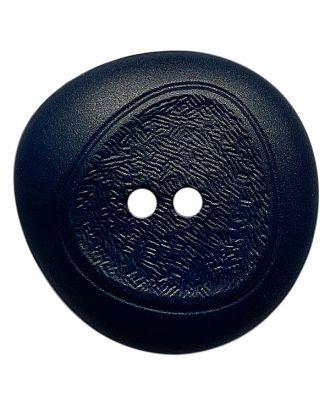 Polyamidknopf mit feiner Struktur und 2 Löchern - Größe:  28mm - Farbe: dunkelblau - ArtNr.: 378803