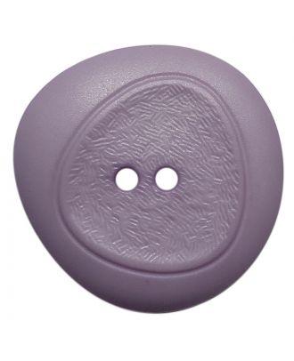 Polyamidknopf mit feiner Struktur und 2 Löchern - Größe:  28mm - Farbe: flieder - ArtNr.: 378804