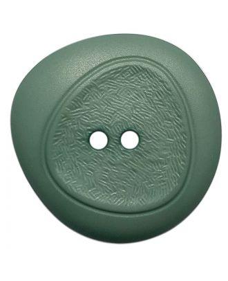 Polyamidknopf mit feiner Struktur und 2 Löchern - Größe:  28mm - Farbe: grün - ArtNr.: 378805