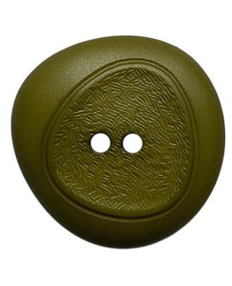 Polyamidknopf mit feiner Struktur und 2 Löchern - Größe:  28mm - Farbe: khaki - ArtNr.: 378806