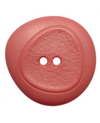 Polyamidknopf mit feiner Struktur und 2 Löchern - Größe:  28mm - Farbe: pink - ArtNr.: 378807