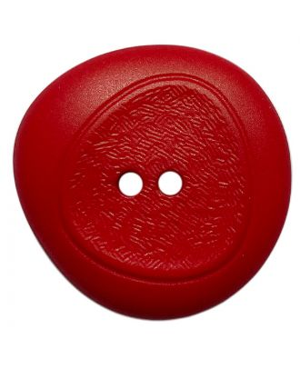 Polyamidknopf mit feiner Struktur und 2 Löchern - Größe:  28mm - Farbe: rot - ArtNr.: 378808
