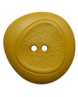 Polyamidknopf mit feiner Struktur und 2 Löchern - Größe:  28mm - Farbe: gelb - ArtNr.: 378809